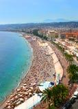 Schönes Panorama von Nizza, Frankreich Lizenzfreie Stockfotos