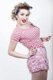 Schönes Pin-up-Girl Lizenzfreies Stockfoto