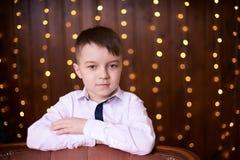 Schönes Porträt Netter kleiner Junge Abstrakte Abbildung Lizenzfreie Stockfotografie