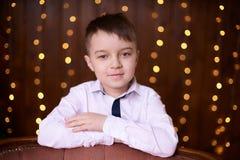 Schönes Porträt Netter kleiner Junge Abstrakte Abbildung Lizenzfreie Stockbilder