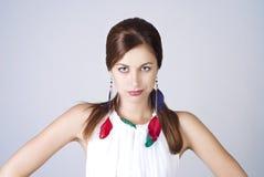 Schönes Portrait der jungen Dame Lizenzfreies Stockfoto