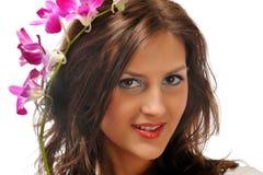 Schönes Portrait der jungen Frau stockfotos