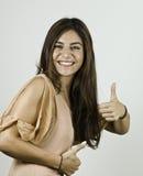 Schönes Portrait der jungen Frau stockbilder