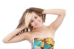 Schönes Portrait der jungen Frau lizenzfreie stockfotos