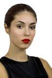 Schönes Portrait der jungen Frau coloful Abbildung der Auslegungelemente Stockbilder