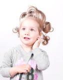 Schönes Portrait des kleinen Mädchens lizenzfreie stockfotos