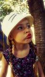 Schönes Portrait des kleinen Mädchens Lizenzfreies Stockfoto