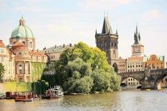 Schönes Prag im Sommer Lizenzfreies Stockfoto