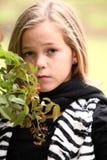 Schönes Preeteen junges Mädchen lizenzfreies stockfoto