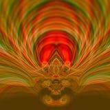Schönes psychedelisches Kunstillustrationsdesign Surrealistische grafische Grafik Entziehen Sie Verzierung Braunfarbiger Hintergr lizenzfreie abbildung
