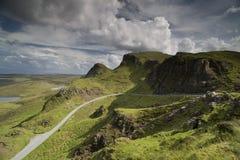 Schönes quiraing Gebirge in der Insel von skye, Schottland Lizenzfreie Stockbilder