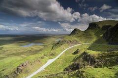 Schönes quiraing Gebirge in der Insel von skye, Schottland Lizenzfreies Stockfoto