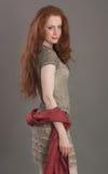 Schönes Redheadmädchen Stockfoto