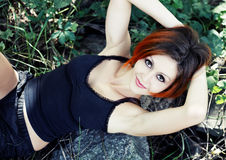 Schönes Redheadmädchen Stockbild