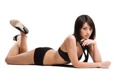 Schönes reizvolles asiatisches Mädchen Stockbilder
