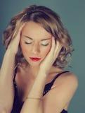 Schönes reizvolles blondes Mädchen Stockbilder