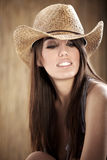 Schönes reizvolles Cowgirl Stockfotos