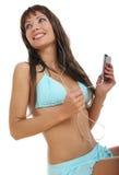 Schönes reizvolles Mädchen im Bikini Lizenzfreie Stockfotografie