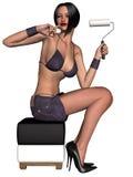 Schönes reizvolles Pin-up-Girl Lizenzfreie Stockfotos
