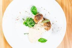 Schönes Restaurantlebensmittel Stockbild