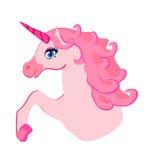 schönes rosa Einhorn. Lizenzfreie Stockfotografie
