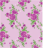 Schönes rosafarbenes Blumen Musterhintergrund für Gewebe Stockfoto