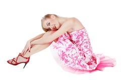 Schönes rosafarbenes Kleid Lizenzfreie Stockbilder