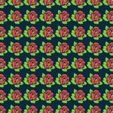 Schönes Rosen-Vektor-Muster Lizenzfreie Stockfotografie