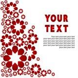 Schönes Rot blüht Hintergrund für Text. Stockbilder
