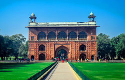 Schönes rotes Fort von Delhi Lizenzfreie Stockfotografie