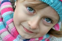 Schönes rumänisches Mädchenporträt Stockfotos