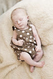 Schönes Schlafen neugeboren Stockfotografie