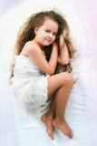 Schönes schlafendes Mädchen Lizenzfreie Stockfotos