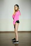 Schönes schlankes junges Mädchen stockbilder
