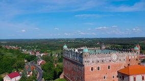 Schönes Schloss in Golub-Dobrzyn stock footage
