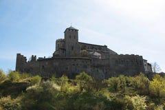 Schönes Schloss in Sion, die Schweiz lizenzfreies stockbild