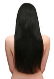 Schönes schwarzes Haar Lizenzfreies Stockfoto