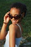 Schönes schwarzes Mädchen Stockfotografie