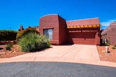 Schönes Sedona-Haus Stockbild