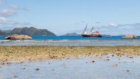 Schönes Segelboot Stockfotos