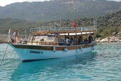 Schönes Segelschiff im Mittelmeer im Truthahn lizenzfreie stockfotografie