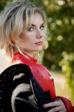 Schönes sexy blondes Cowgirl Stockbilder