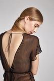 Schönes sexy blondes Frauenporträt des Mode-Modells rein Lizenzfreie Stockbilder