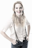 Schönes smilling Frauenmodeporträt Lizenzfreie Stockbilder