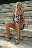 Schönes Sommermädchen Stockfotos