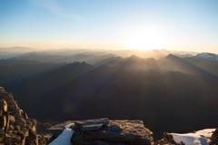 Schönes Sonnenaufgang panorema von verdient wiesbachhorn in Österreich lizenzfreies stockfoto
