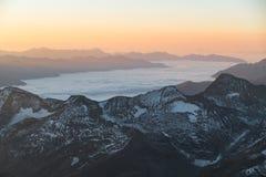 Schönes Sonnenaufgang panorema von verdient wiesbachhorn in Österreich lizenzfreies stockbild