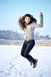 Schönes springendes Mädchen Lizenzfreie Stockfotos