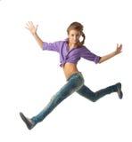 Schönes springendes Mädchen Lizenzfreies Stockfoto