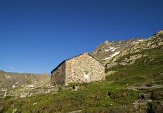 Schönes St. Bernard Pass, die Schweiz Lizenzfreies Stockbild